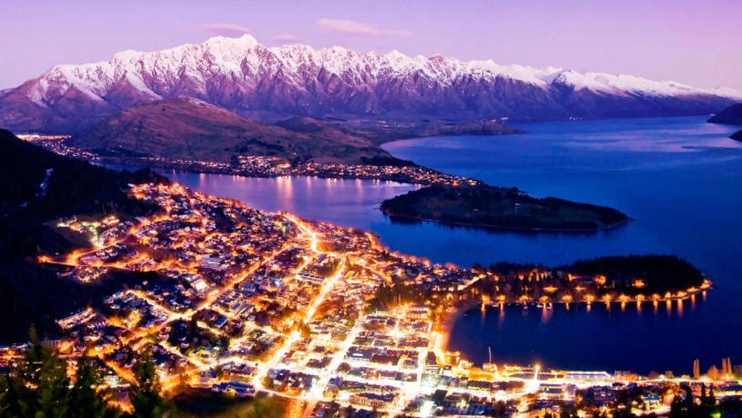 View of Queenstown, NZ